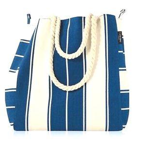 Lancôme Striped Canvas Tote Bag